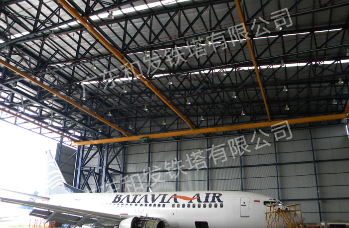 Indonesian airport roof truss